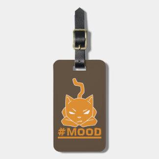 #MOOD Cat Orange Logo Illustration Luggage Tag