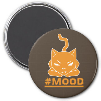 #MOOD Cat Orange Logo Illustration Magnet
