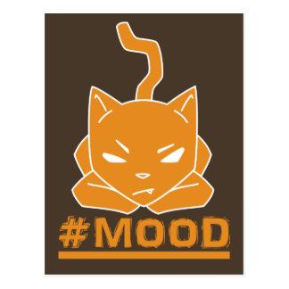 #MOOD Cat Orange Logo Illustration Postcard