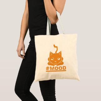 #MOOD Cat Orange Logo Illustration Tote Bag