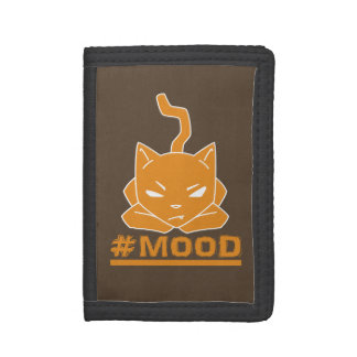 #MOOD Cat Orange Logo Illustration Tri-fold Wallet