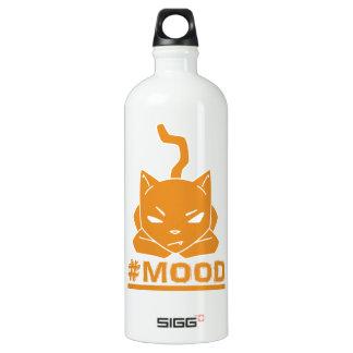 #MOOD Cat Orange Logo Illustration Water Bottle