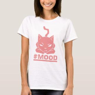 #Mood Cat Pink Cartoon Illustration T-Shirt