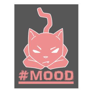 #MOOD Cat Pink Logo Illustration Postcard