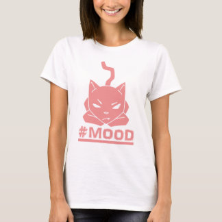 #MOOD Cat Pink Logo Illustration T-Shirt