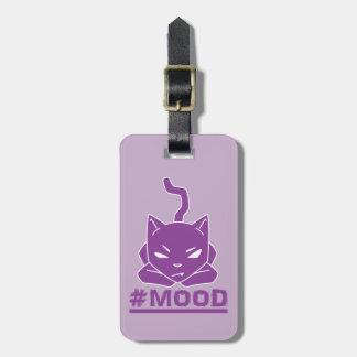 #MOOD Cat Purple Logo Illustration Luggage Tag