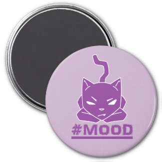 #MOOD Cat Purple Logo Illustration Magnet