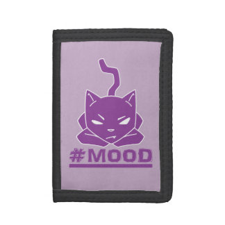 #MOOD Cat Purple Logo Illustration Tri-fold Wallet