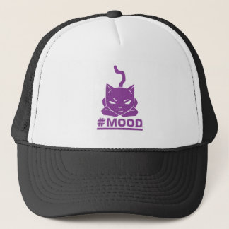 #MOOD Cat Purple Logo Illustration Trucker Hat