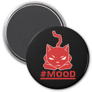 #MOOD Cat Red Logo Illustration Magnet