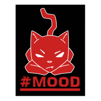 #MOOD Cat Red Logo Illustration Postcard