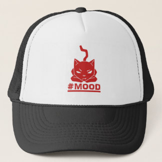#MOOD Cat Red Logo Illustration Trucker Hat