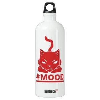 #MOOD Cat Red Logo Illustration Water Bottle
