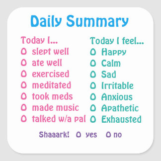 Mood tracking stickers