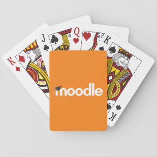 Moodle Playing Cards: Orange Playing Cards
