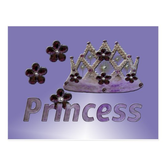 Moody Blue Princess Crown Postcard