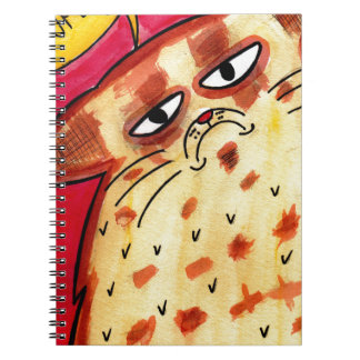 Moody Cat Notebook