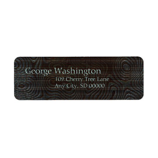 Moody Dark Abstract Pattern Return Address Label