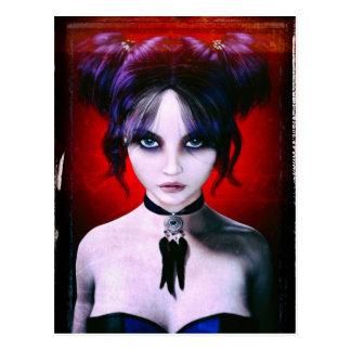 Moody Goth Girl Portrait Postcard