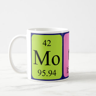Moody periodic table word mug