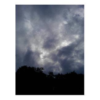 Moody sky postcard