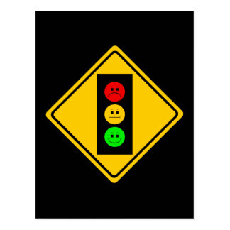 Moody Stoplight Ahead Postcard