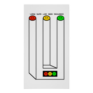 Moody Stoplight Blivet with Caption Poster