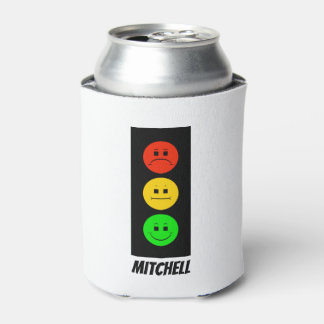 Moody Stoplight Customizable with Name Can Cooler