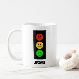 Moody Stoplight Customizable with Name Coffee Mug