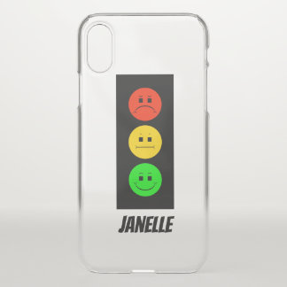 Moody Stoplight Customizable with Name iPhone X Case