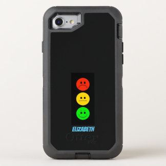 Moody Stoplight Customizable with Name OtterBox Defender iPhone 8/7 Case