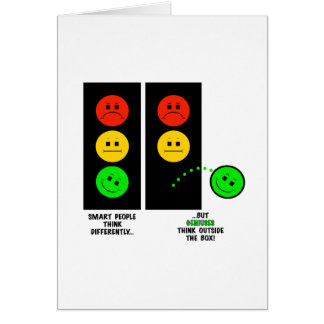 Moody Stoplight Geniuses Think Outside The Box Card