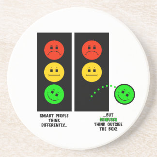 Moody Stoplight Geniuses Think Outside The Box Coaster