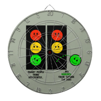 Moody Stoplight Geniuses Think Outside The Box Dartboard