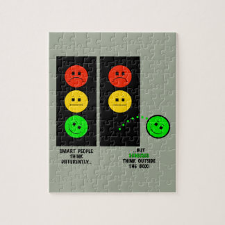 Moody Stoplight Geniuses Think Outside The Box Jigsaw Puzzle