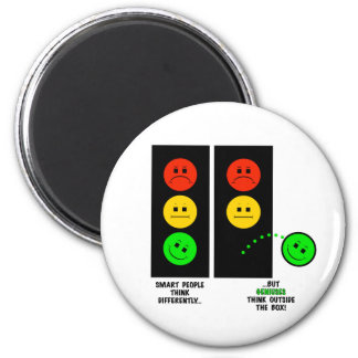Moody Stoplight Geniuses Think Outside The Box Magnet