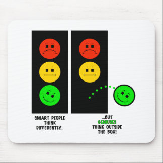 Moody Stoplight Geniuses Think Outside The Box Mouse Pad