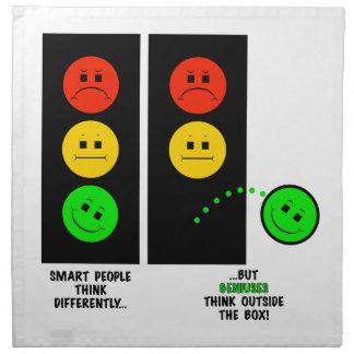 Moody Stoplight Geniuses Think Outside The Box Napkin