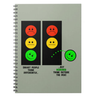 Moody Stoplight Geniuses Think Outside The Box Notebooks