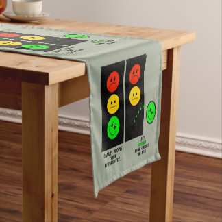 Moody Stoplight Geniuses Think Outside The Box Short Table Runner