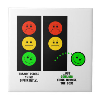 Moody Stoplight Geniuses Think Outside The Box Tile