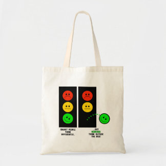 Moody Stoplight Geniuses Think Outside The Box Tote Bag