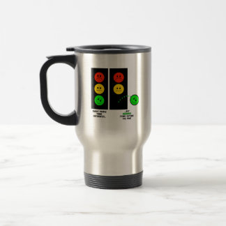 Moody Stoplight Geniuses Think Outside The Box Travel Mug