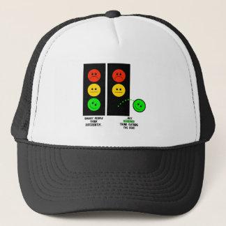 Moody Stoplight Geniuses Think Outside The Box Trucker Hat