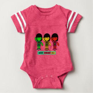 Moody Stoplight Girls in Shorts Baby Bodysuit