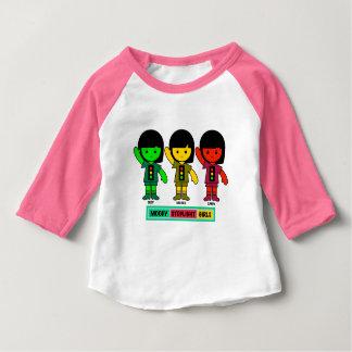 Moody Stoplight Girls in Shorts Baby T-Shirt