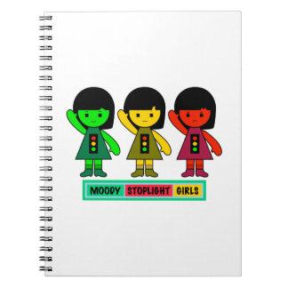 Moody Stoplight Girls w/ Label Notebook