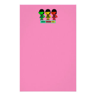 Moody Stoplight Girls w/ Label Stationery