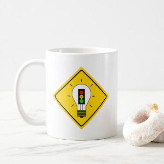 Moody Stoplight Lightbulb Ahead Coffee Mug