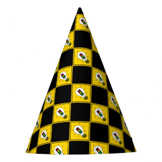 Moody Stoplight Lightbulb Ahead Party Hat